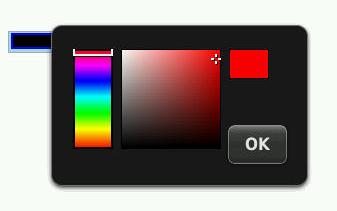 Obrázek políčka typu color v Blackberry