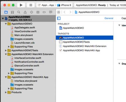 Struktura projektu v Xcode