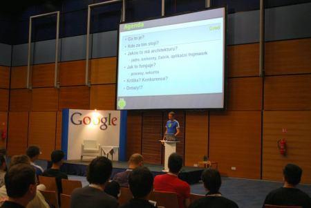 Fotografie z přednášky o Android