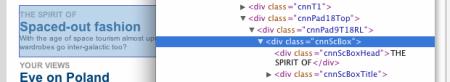Proklikávání HTML stromem