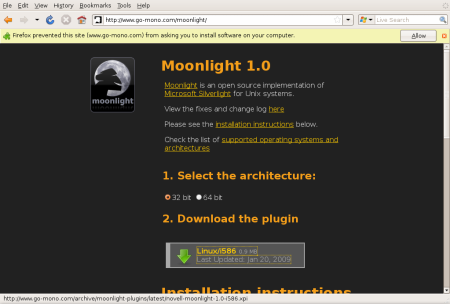 Instalace Moonlight